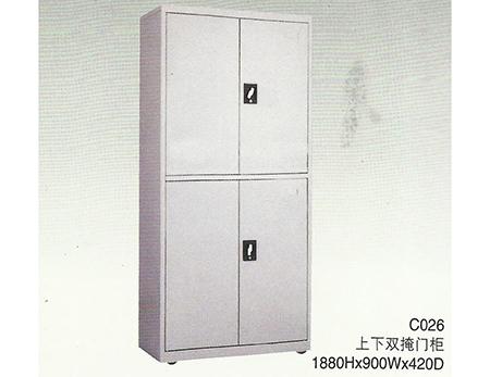 C026上下掩门柜