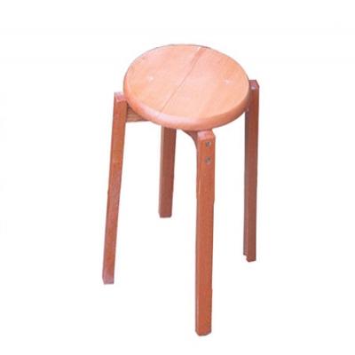 榉木圆凳(原木色)