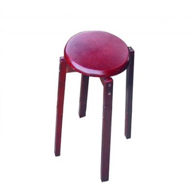 榉木圆凳加钉(红木色)