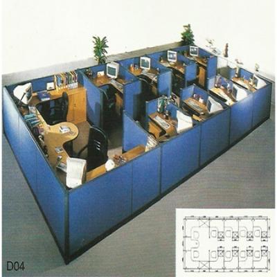 D11办公屏风组合