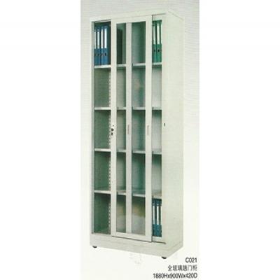 C021全玻璃敞门柜