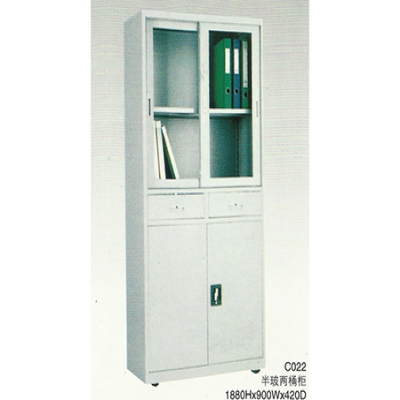 C022半玻两桶柜