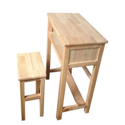 F07橡木学生台椅