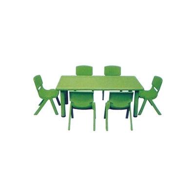 J-05 塑料长方桌+塑料椅